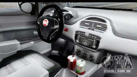 Fiat Linea 2014 para GTA San Andreas vista interior