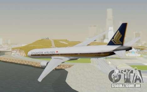 Boeing 777-300ER Singapore Airlines v1 para GTA San Andreas esquerda vista