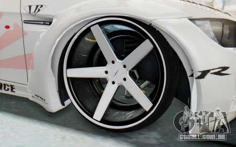 BMW M3 E92 Liberty Walk LB Performance para GTA San Andreas vista traseira