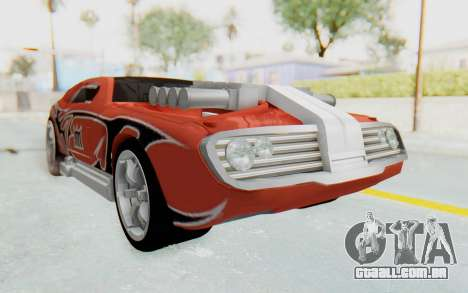Hot Wheels AcceleRacers 2 para GTA San Andreas vista direita