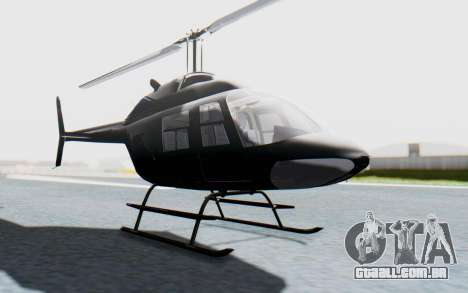 Bell 206B-III Jet Ranger Policja para GTA San Andreas vista direita
