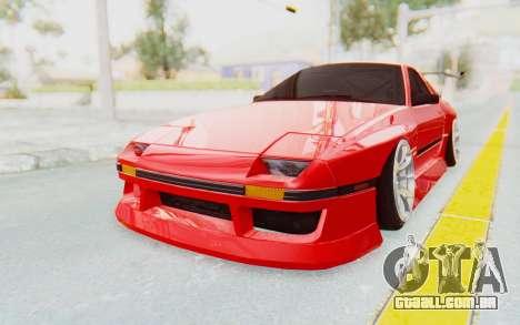 Mazda RX-7 FC3S BN Sport para GTA San Andreas traseira esquerda vista