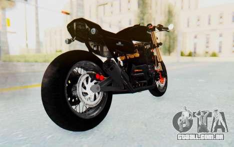 Kawasaki Z1000 Moghe Cafe Racer para GTA San Andreas esquerda vista