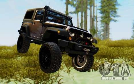 Jeep Wrangler Rubicon 2012 para GTA San Andreas vista direita