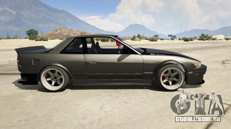 GTA 5 Nissan Silvia S13 6666 Rocket Bunny 1.7 vista lateral esquerda