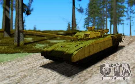 T-14 Armata Green para GTA San Andreas vista direita