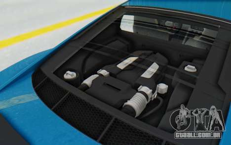 Audi R8 V10 2017 v2.0 para GTA San Andreas vista traseira