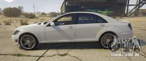 GTA 5 Mercedes-Benz S65 AMG (W221) vista lateral esquerda