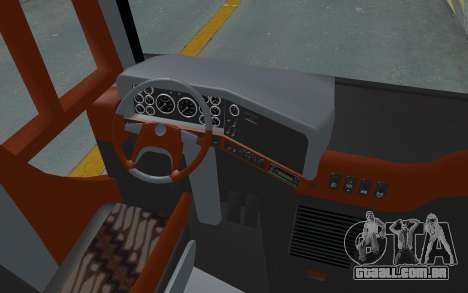 Hino Evo-C Transjakarta Feeder Bus para GTA San Andreas vista traseira