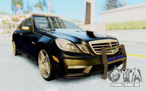 Mercedes-Benz E63 German Police Blue para GTA San Andreas vista direita