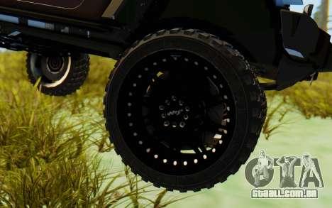 Jeep Wrangler Rubicon 2012 para GTA San Andreas vista traseira