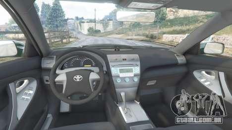 GTA 5 Toyota Camry V40 2008 [stock] frente vista lateral direita