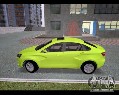 Lada Vesta para GTA San Andreas esquerda vista