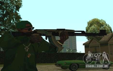 AK-47 Vulcan (SA) para GTA San Andreas segunda tela