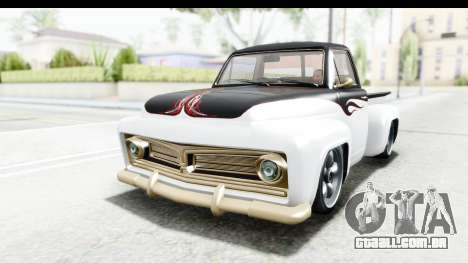 GTA 5 Vapid Slamvan without Hydro para GTA San Andreas vista superior