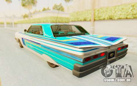 GTA 5 Declasse Voodoo Alternative v1 para GTA San Andreas vista interior