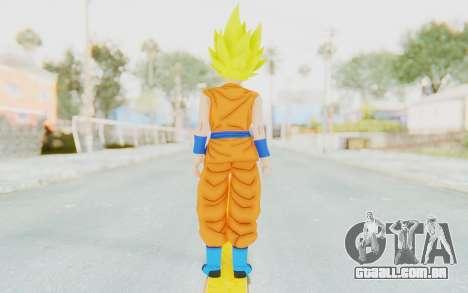 Dragon Ball Xenoverse Female Saiyan SSJ para GTA San Andreas terceira tela