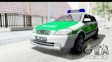 Opel Astra G Variant Polizei Bayern para GTA San Andreas traseira esquerda vista