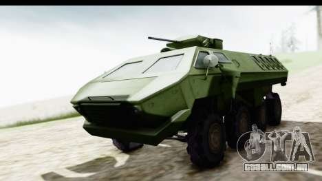 Lazar Serbian Armored Vehicle para GTA San Andreas vista direita