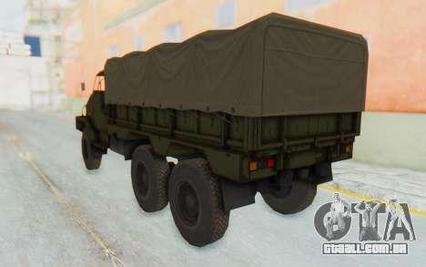 MGSV Phantom Pain BOAR 53CT Truck Roof para GTA San Andreas esquerda vista