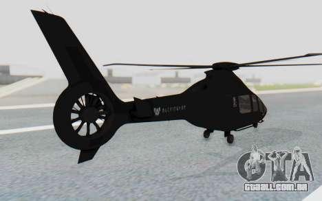 GTA 5 Buckingham Volatus v1 IVF para GTA San Andreas esquerda vista