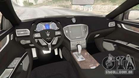 GTA 5 Maserati Quattroporte 2013 vista lateral direita