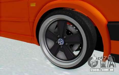 Volkswagen Golf 2 GTI 1.6V para GTA San Andreas vista traseira
