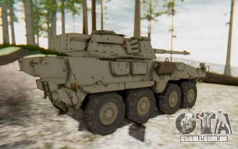 MGSV Phantom Pain STOUT IFV APC Tank v1 para GTA San Andreas traseira esquerda vista