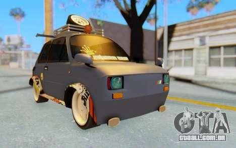 Fiat 126 para GTA San Andreas vista direita