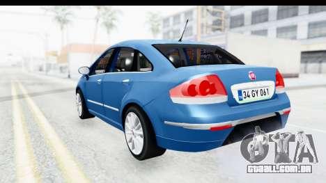 Fiat Linea 2014 Wheels para GTA San Andreas vista direita