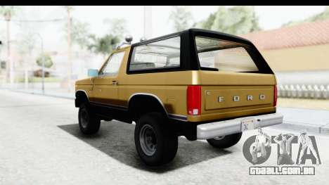 Ford Bronco 1980 IVF para GTA San Andreas vista direita