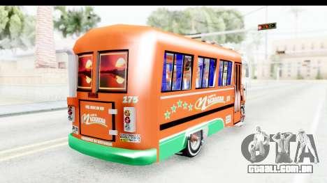 Dodge D600 v2 Bus para GTA San Andreas traseira esquerda vista
