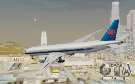 Boeing 777-300ER China Southern Airlines para GTA San Andreas esquerda vista