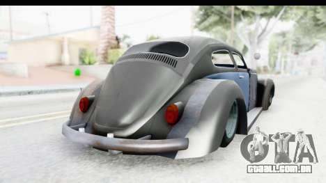 Volkswagen Beetle 1963 Hotrod para GTA San Andreas esquerda vista