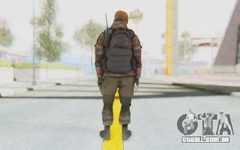 COD MW2 Russian Paratrooper v4 para GTA San Andreas terceira tela