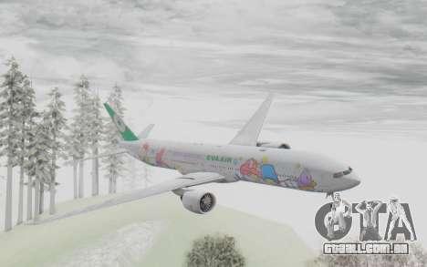 Boeing 777-300ER Eva Air v2 para GTA San Andreas traseira esquerda vista