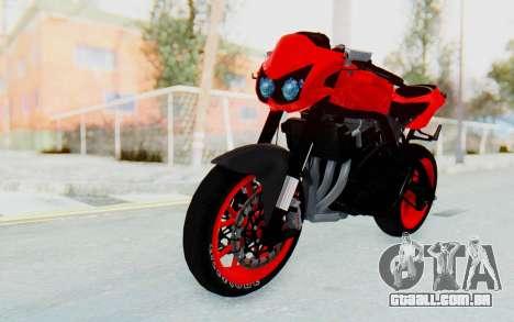 Kawasaki Ninja 250R Streetrace Naked para GTA San Andreas vista direita