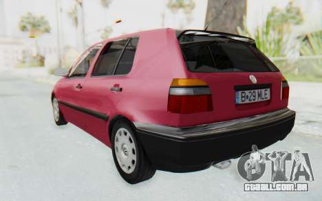 Volkswagen Golf 3 1994 para GTA San Andreas esquerda vista