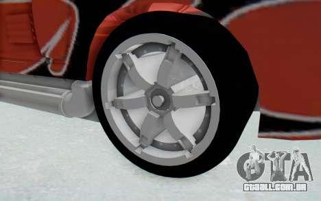 Hot Wheels AcceleRacers 2 para GTA San Andreas vista traseira