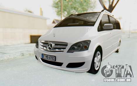 Mercedes-Benz Viano W639 2010 Long Version para GTA San Andreas traseira esquerda vista
