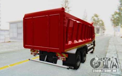 Volvo FMX 6x4 Dumper v1.0 para GTA San Andreas esquerda vista