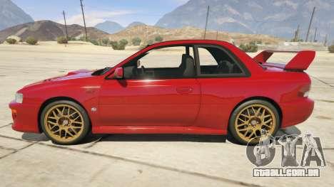 GTA 5 1998 Subaru Impreza 22B-STi Series I vista lateral esquerda