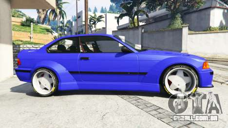 GTA 5 BMW M3 (E36) Street Custom [blue dials] v1.1 vista lateral esquerda