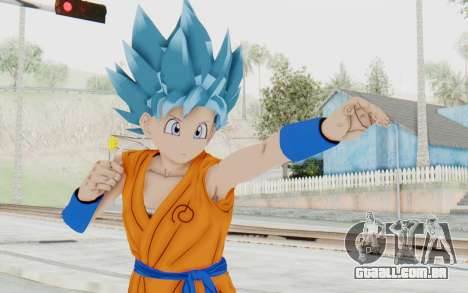 Dragon Ball Xenoverse Female Saiyan SSGSS para GTA San Andreas