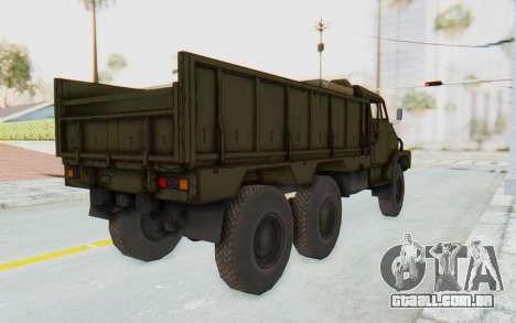 MGSV Phantom Pain BOAR 53CT Truck para GTA San Andreas esquerda vista