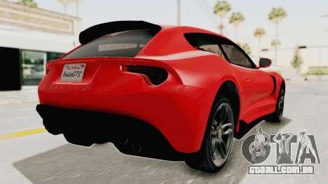 GTA 5 Grotti Bestia GTS v2 IVF para GTA San Andreas traseira esquerda vista