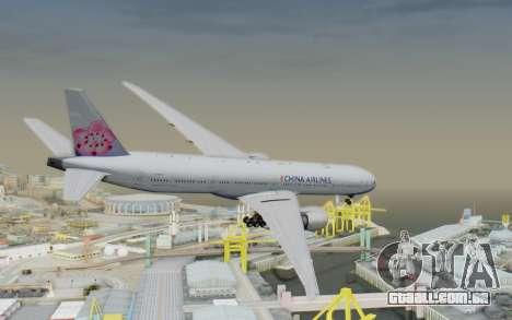 Boeing 777-300ER China Airlines para GTA San Andreas esquerda vista