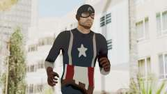 Trevor in Captain America Suit