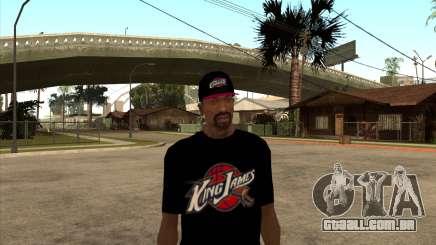 King James T-Shirt para GTA San Andreas