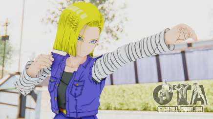 Dragon Ball Xenoverse Android 18 Jacket para GTA San Andreas